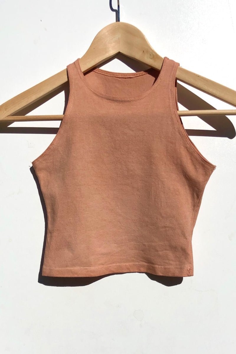 Terracotta Muscle Tank Crop