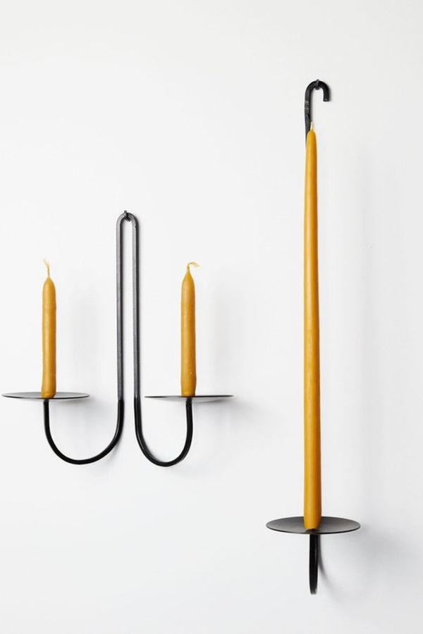 Iron Single Arm Candle Holder