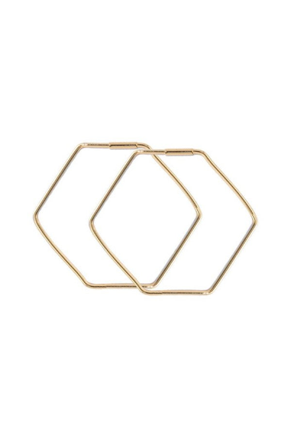 Gold Juno Hexagon Hoop
