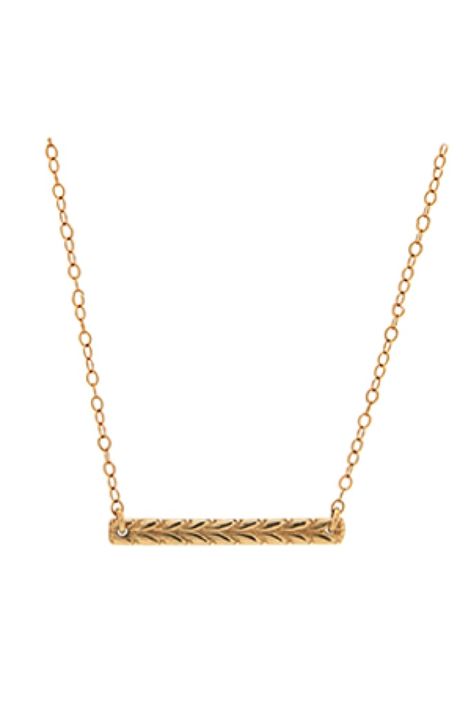 Gold Gia Braid Bar Necklace