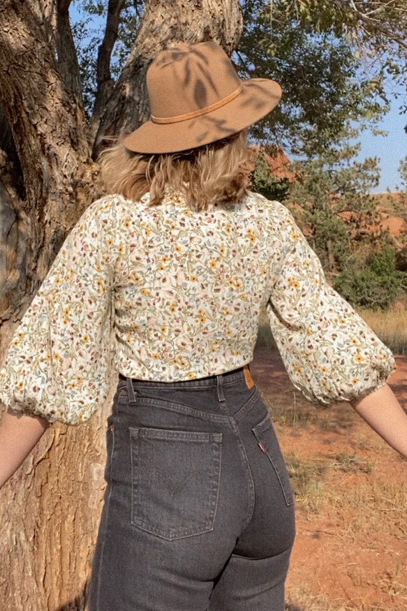 Meadow Floral Roxanne Blouse