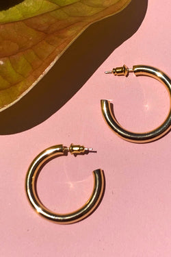 Gold Kylie Hoops