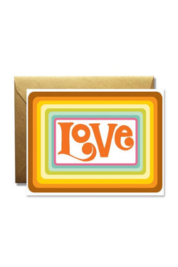 Psychedelic Love Card