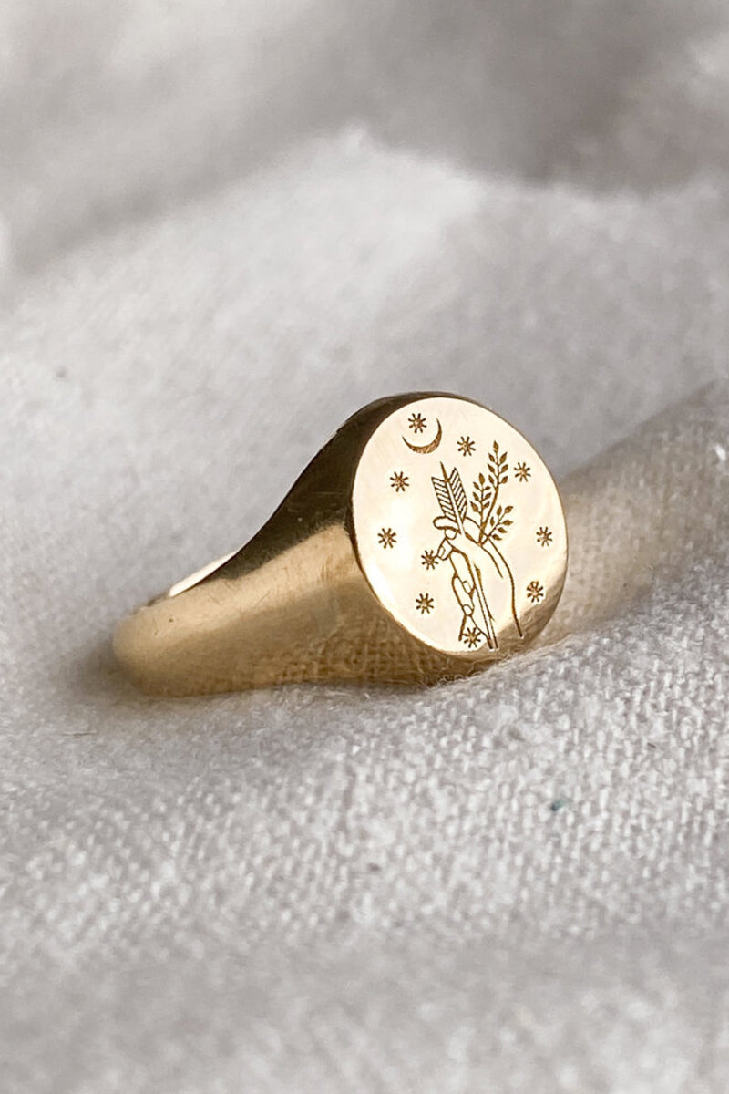 Gold Diana Ring