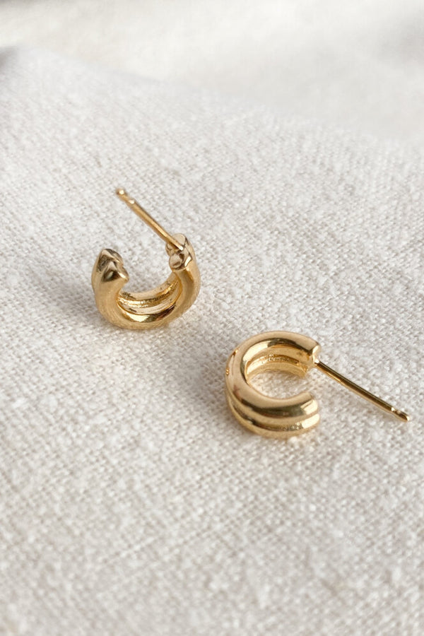 Gold Double Lil Jane Hoops