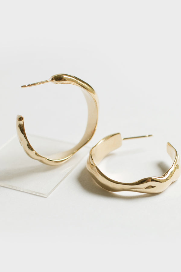 Gold Eau Hoops