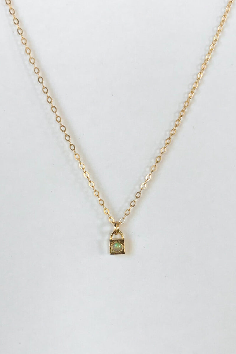 Gold Opal Loner Necklace