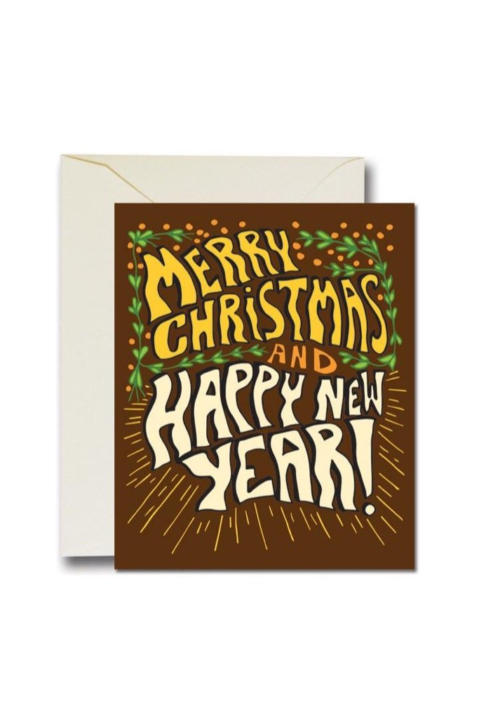 Merry Xmas And Happy New Year Card Set