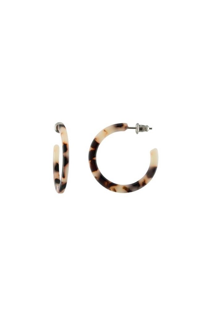 Ash Blonde Tortoise Mini Hoops