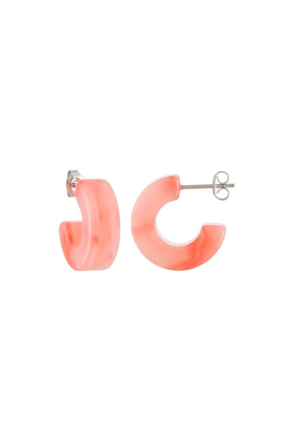 Bright Pink Muse Hoops