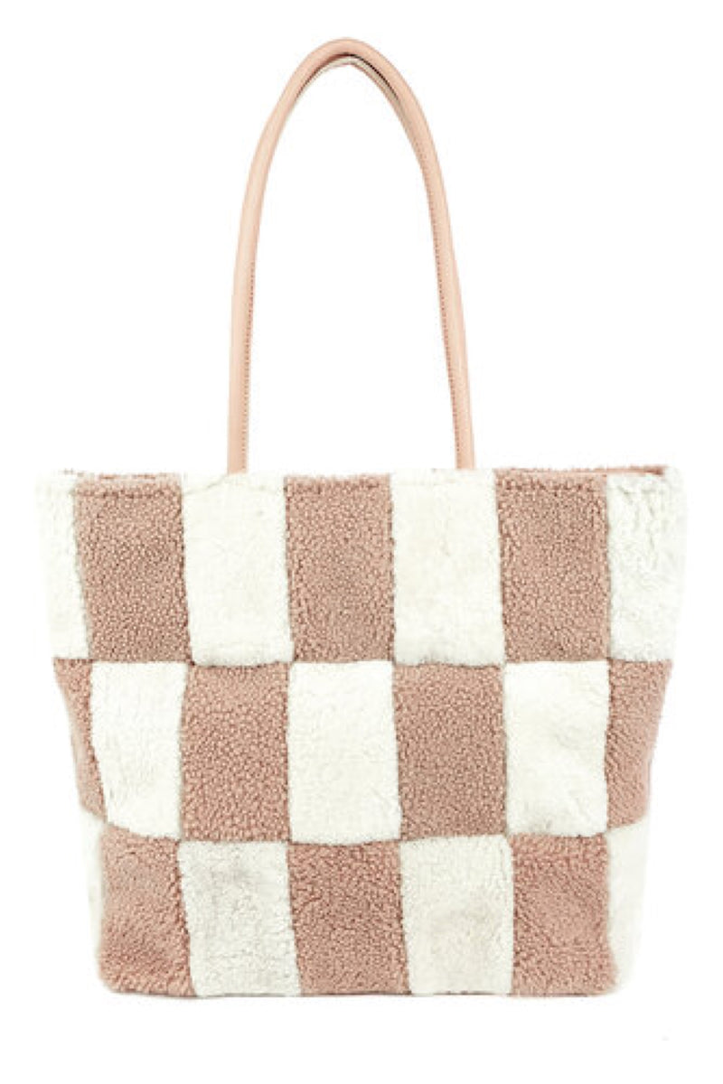 Blush Blocks Patchwork Tote