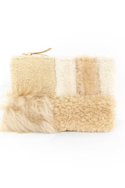 Tofu Shearling Zipper Pouch