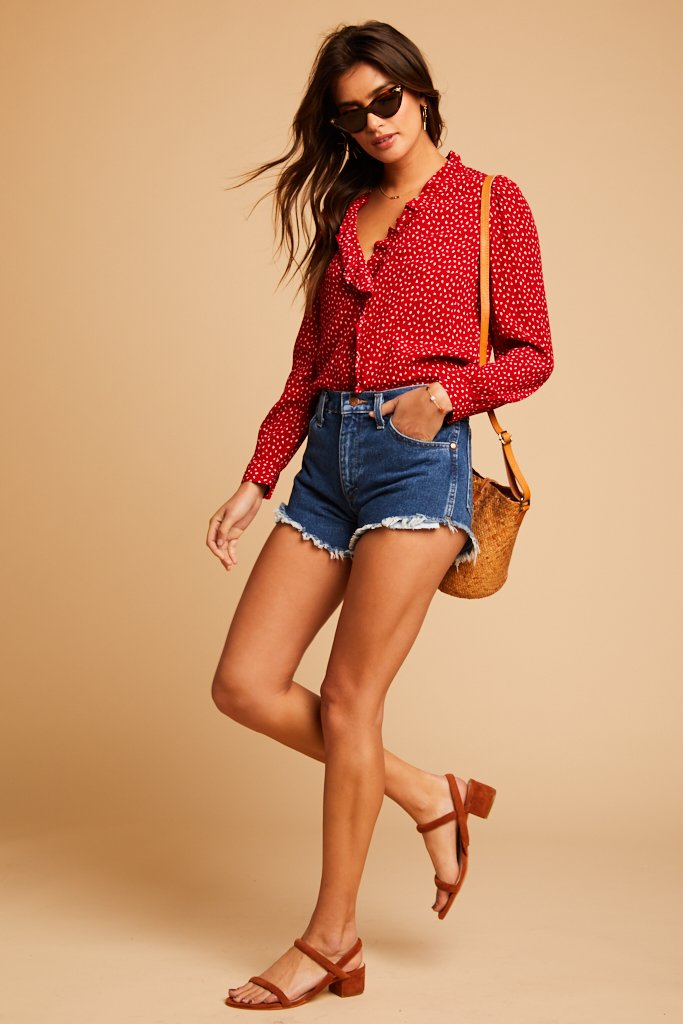 Red Lily Blouse