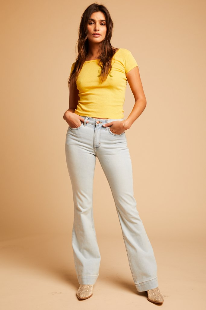 stretch boot cut jeans