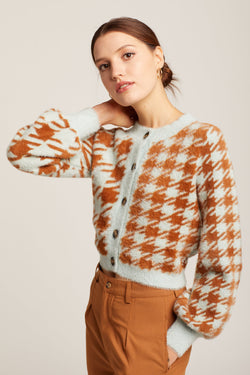 Houndstooth Cher Cardigan