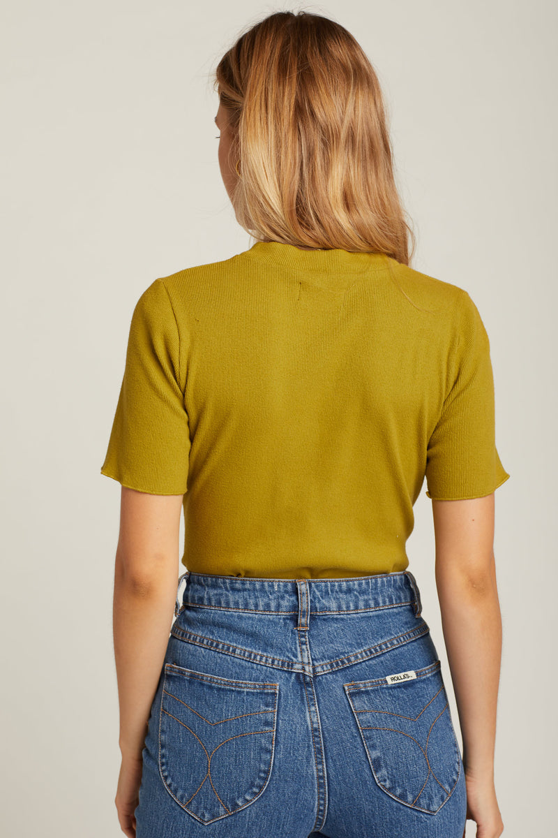 Avocado Jazz Mockneck Top