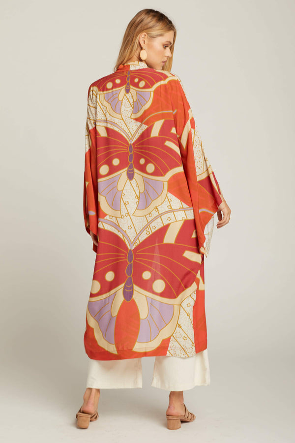 Red Butterfly Georgia Robe