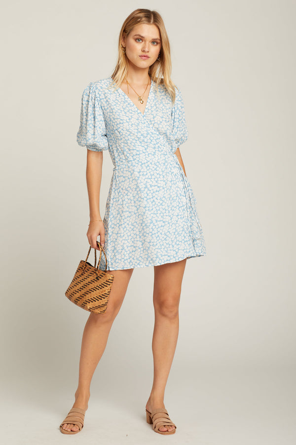 Blue Bella Floral Blanco Dress