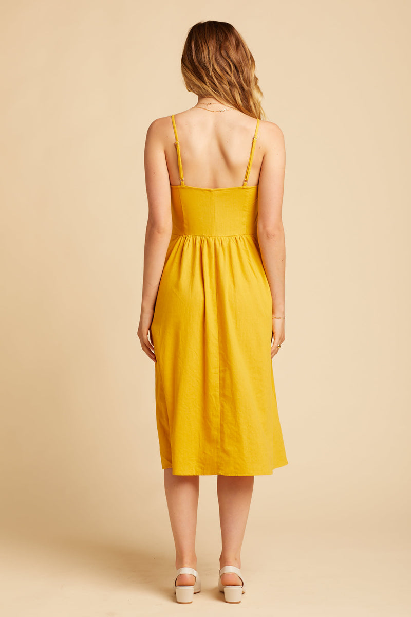 Gold Eve Linen Dress
