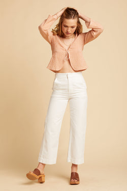 White Wash Brushed Max Trousers