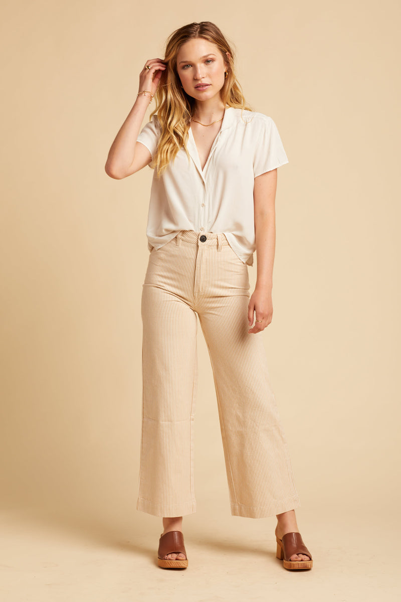 Gold Stripe Old Mate Pant