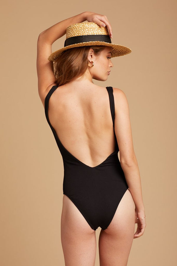 Black Ribbed Arizona Swimsuit