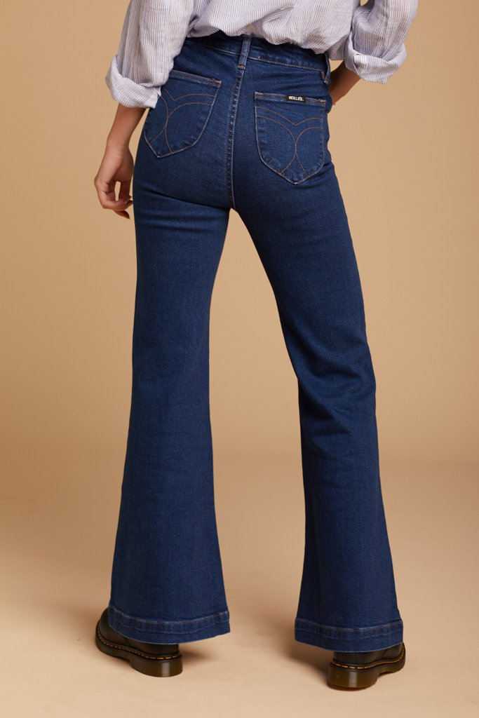 stretch flare jeans