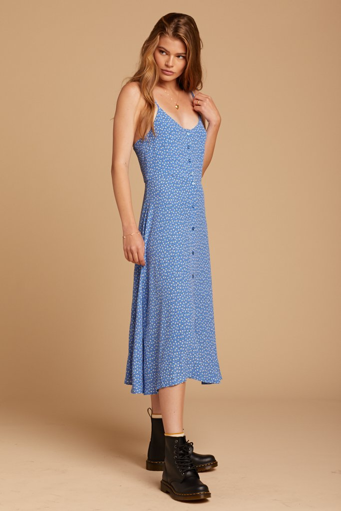 French Blue Midsummer Tulip Dress