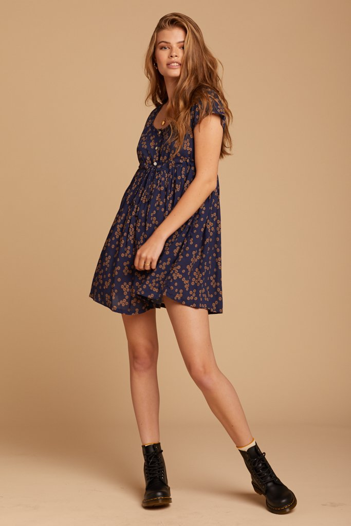 Midnight Daisies Lucy Dress