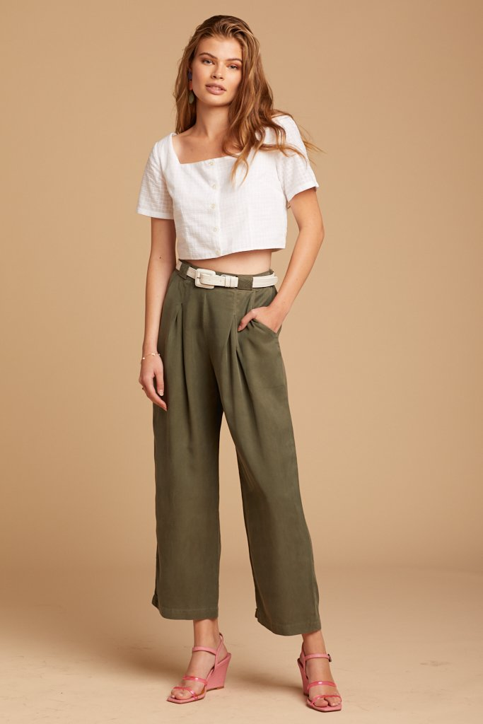 Sage Tencel Pleat Pants