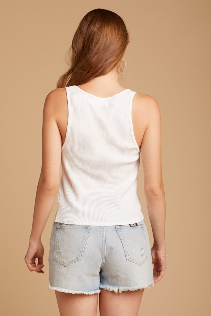Whitewash Roxy Tank