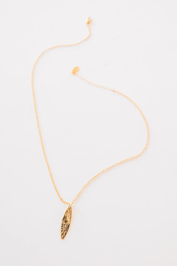 Gold Burst Plate Necklace