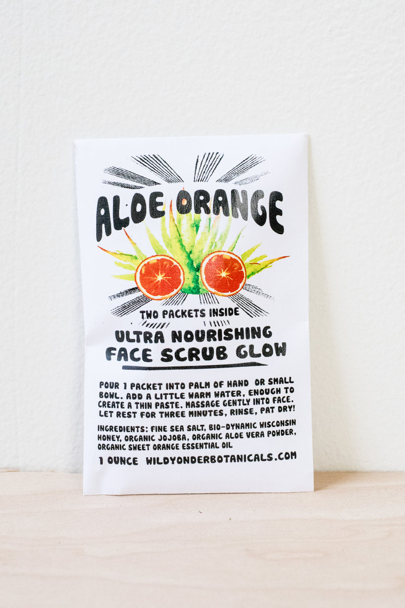Aloe Orange Face Scrub Glow