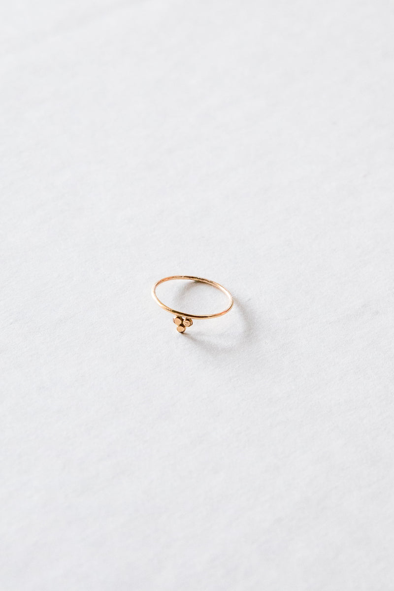 Gold Dot Stack Ring