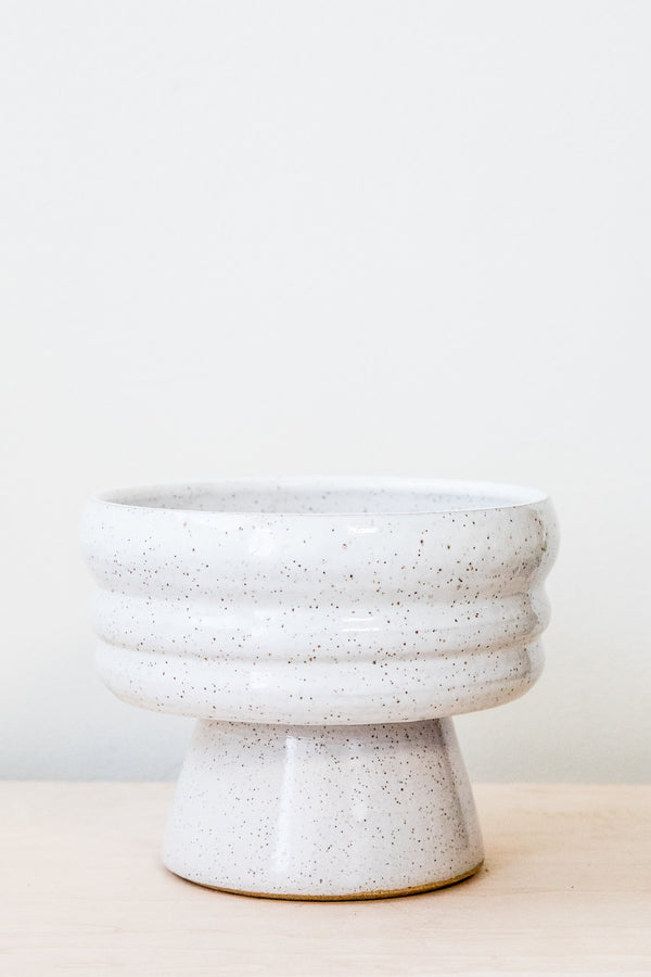 White Speckle Plateau Bowl