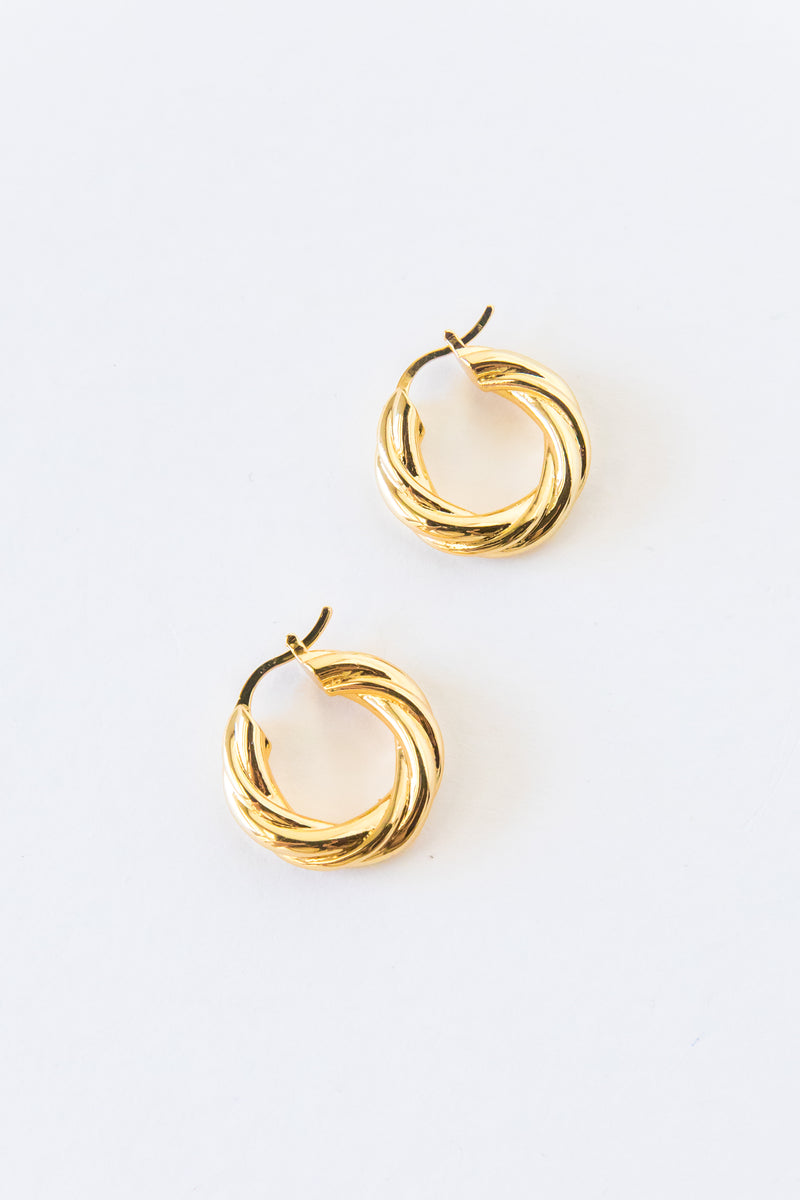 Small Gold Abma Hoops