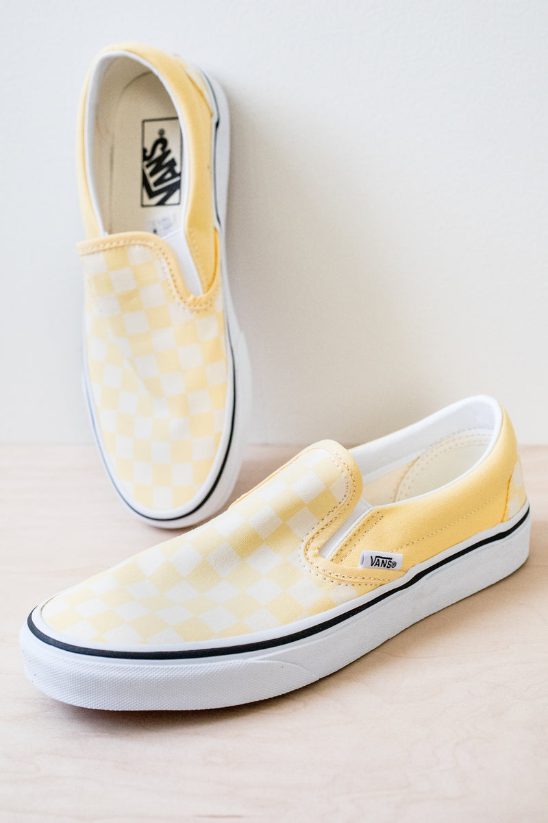 Golden Haze Checkerboard Slip-On