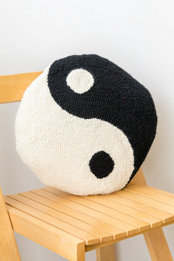 X PRISM Black Yin Yang Pillow