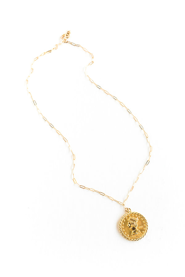 Gold Queen B Necklace