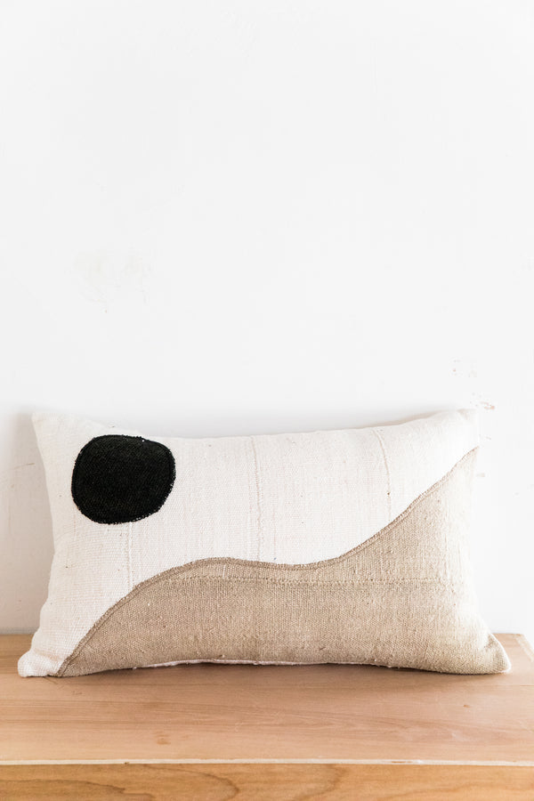 X PRISM Natural + Tan Yin Yang Pillow