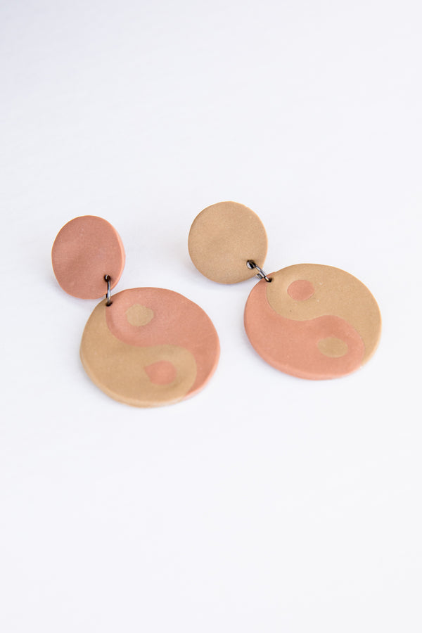 X Prism Mesa + Desert Yin Yang Earrings