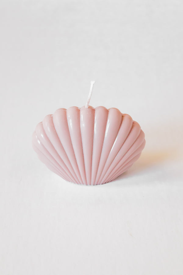 Taupe Shell Candle