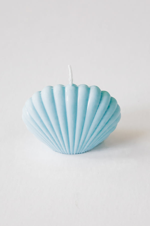 Baby Blue Shell Candle