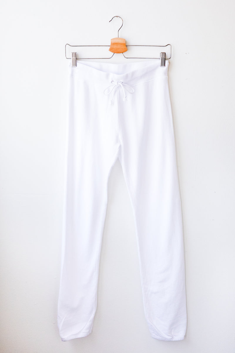 White Freddie Sweatpants