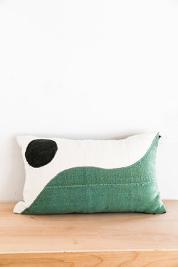 X PRISM Natural + Green Yin Yang Pillow