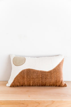 X PRISM Natural + Brown Yin Yang Pillow
