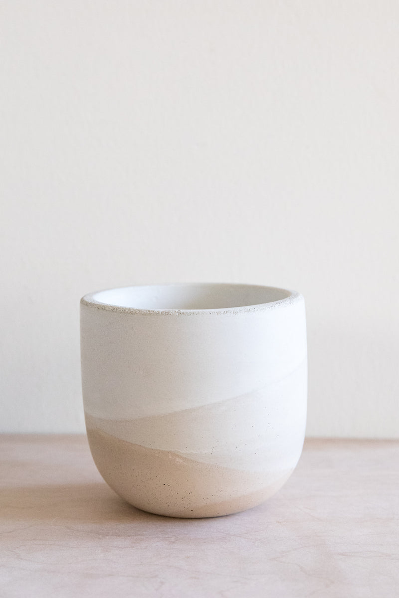 X PRISM Small Sand Concrete Planter