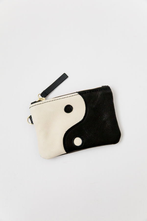 X Prism Black + Cream Yin Yang Coin Pouch