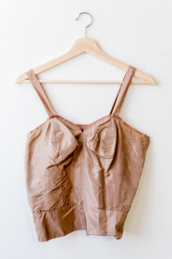 Brown Tricot Bustier