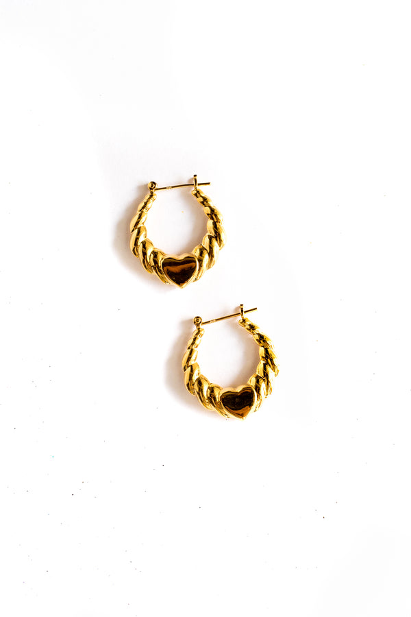 Gold La La Hoop Earrings